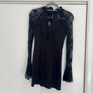REVOLVE- It's Now or Never, Black Mini Dress